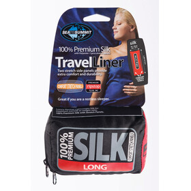 Sea to Summit Premium Silk Liner Long Rectangular navy blue